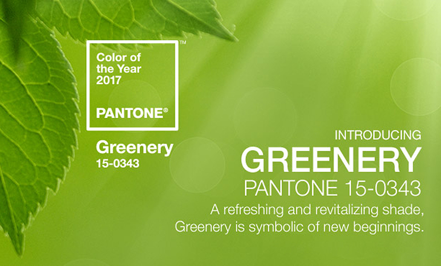 Go Green in 2017 with Pantone's COTY