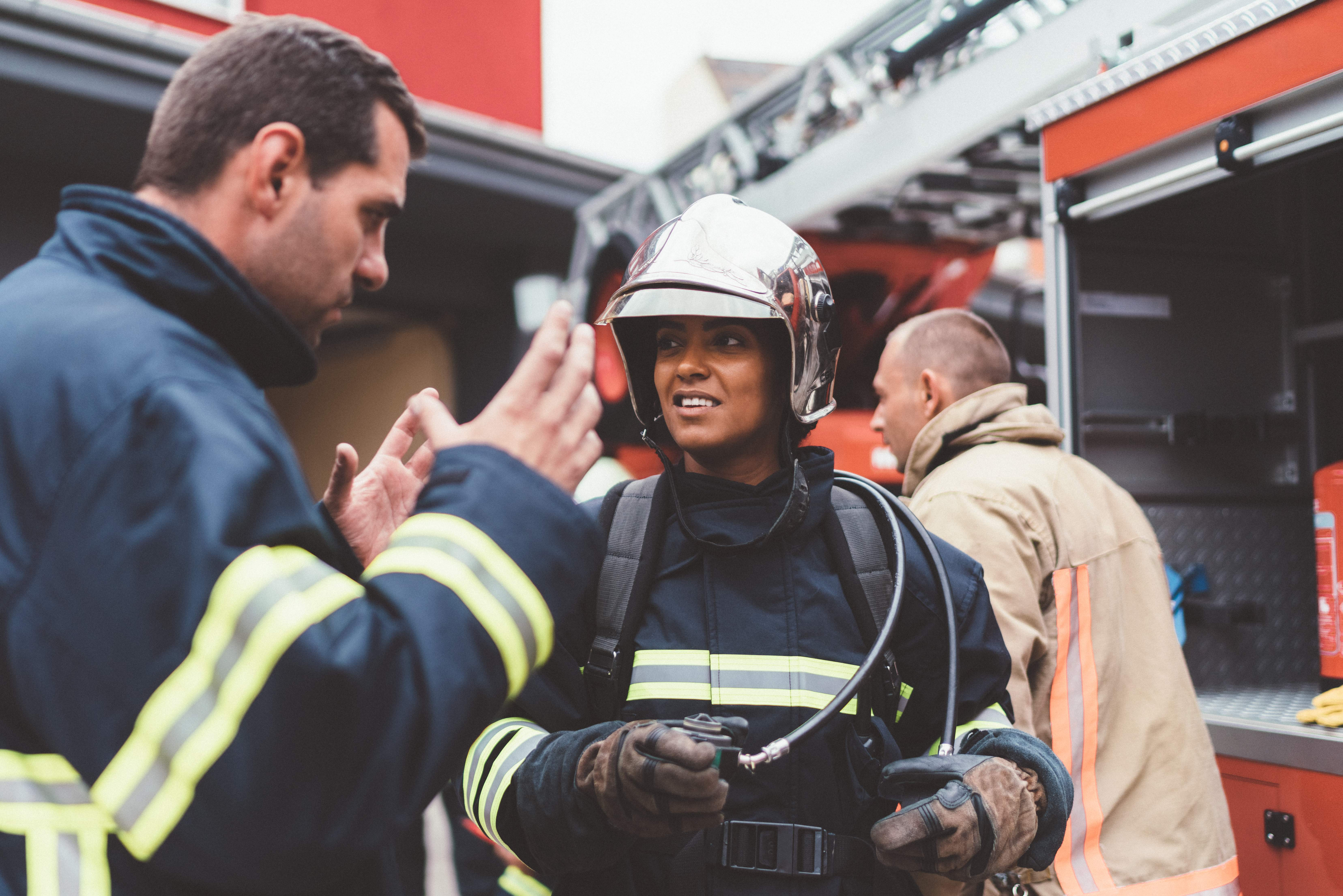 Firefighters ready for rescue